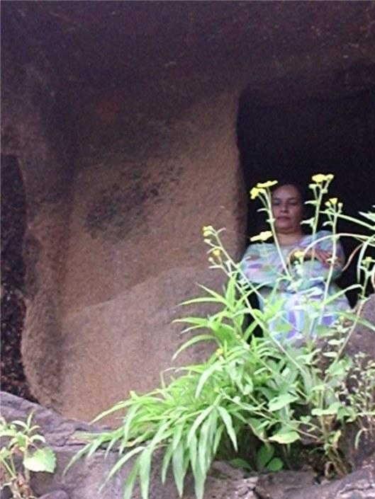 Meditation Cell, Kala caves north of Pune, Maharashtra