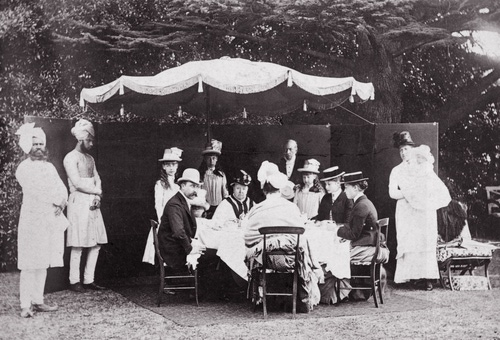 Queen Victoria- with her India garden-servants