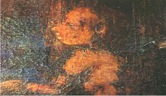 Vishvantara Jataka, called The Courtier, from cave 17 early 5th century, Ajanta