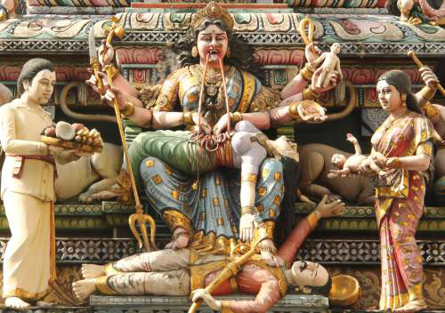 the goddess kali punishes