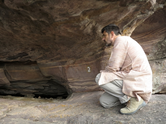 Rock art caves Shamla Hills Bhopal