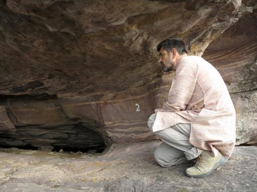 Rock art caves Shamla Hills Bhopal
