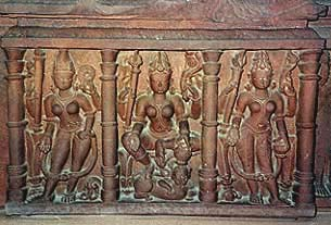 Durga Trimurti, 12th century, from Sagar. [art-and-archaeology.com]