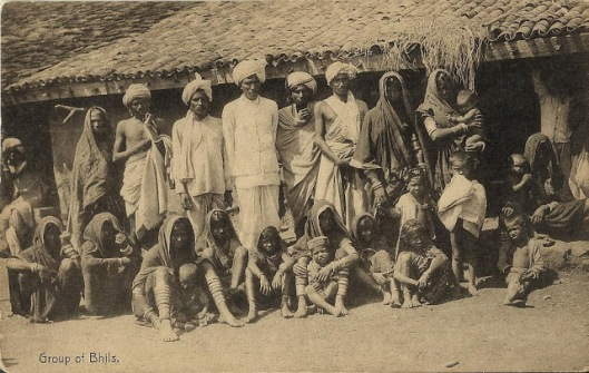 Group of Bhils vintage postcard obverse