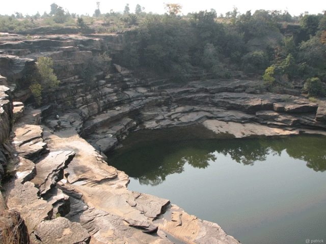 Gorge from where the Mandakini flows