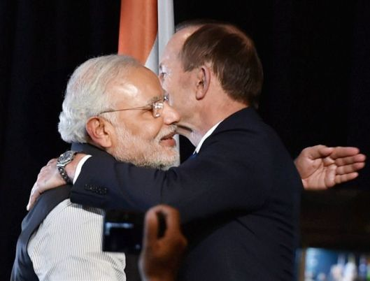 The hug made this Austro-Indian feel embarrassed