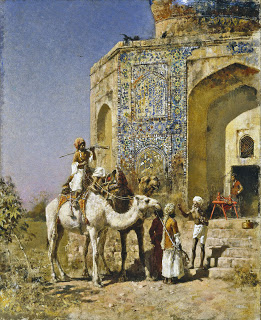 Edwin Lord Weeks – The Old Blue-Tiled Mosque Outside of Delhi, India