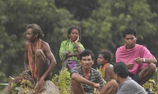 'Mining happiness' Vedanta is stripping all that the Dongria Kondh tribals hold sacred. (Photograph by Sandipan Chatterjee)
