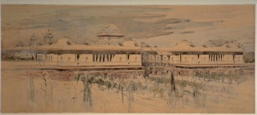 Perspective View of the South Elevation of the Viceroy's House ( ByWilliam Walcot, 1914
